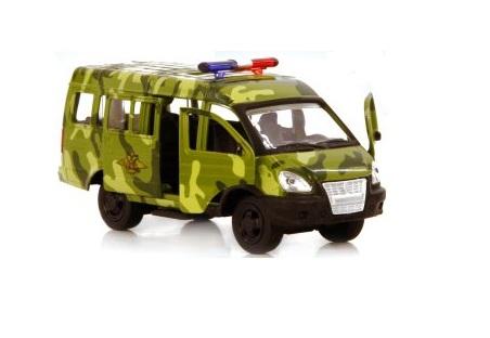 Купить SOLMAR PTE LTD Металлическая машинка Автопарк. ГАЗ-3221 , инерционная [Р41122], зеленый, Игрушечные машинки и техника