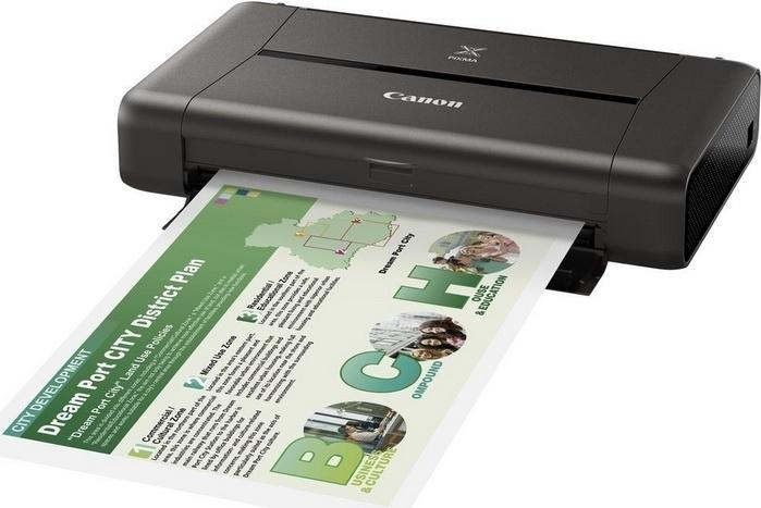 Цветной струйный принтер Canon PIXMA iP110 с аккумулятором