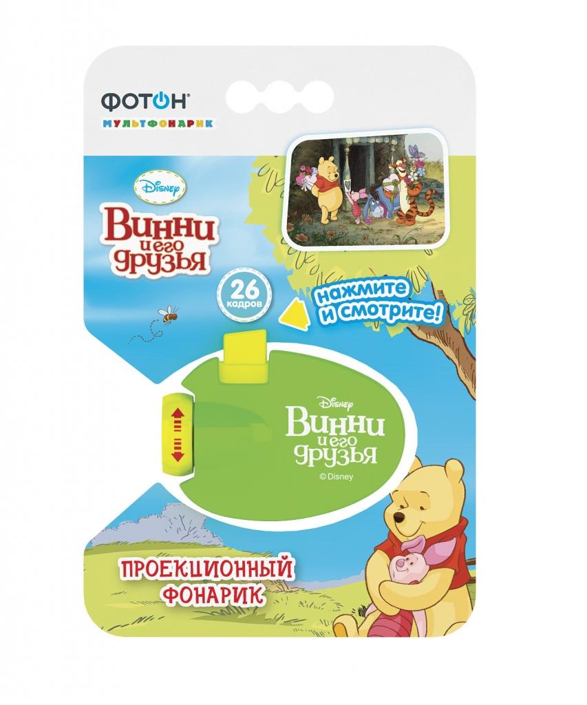 Купить Мультфонарик ФОТОН 22775 Проектор Disney Винни и его друзья, пластик, Развивающие игрушки для малышей
