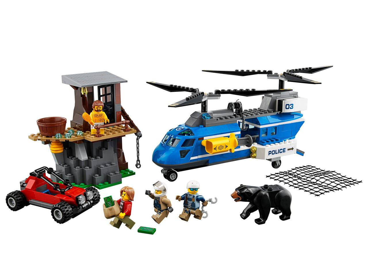 Купить Конструктор LEGO 60173 City Police Погоня в горах, пластик, Для мальчиков и девочек, Китай, Конструкторы