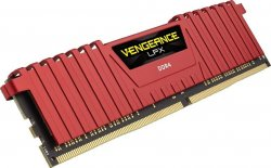 Оперативная память DIMM 8 Гб DDR4 2400 МГц Corsair Vengeance LPX Red (CMK8GX4M1A2400C14R) PC-19200