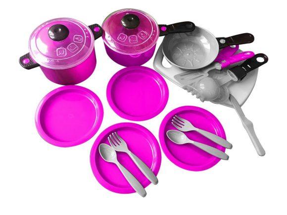 Купить ORION TOYS Набор посуды Ириска-3 , 23 предмета [ОР080], Фиолетовый, пластик, Украина, Игрушечная еда и посуда