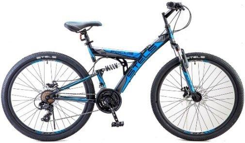Купить STELS Велосипед горный Focus MD, черный/синий [LU073823], Велосипеды для взрослых и детей