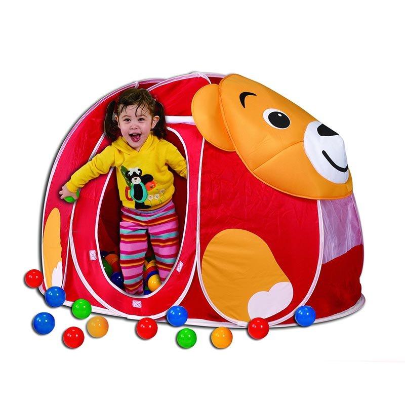 Купить 676, CALIDA Дом + 100 шаров МИШКА (130х90х85см), Китай, Детские игровые домики и палатки