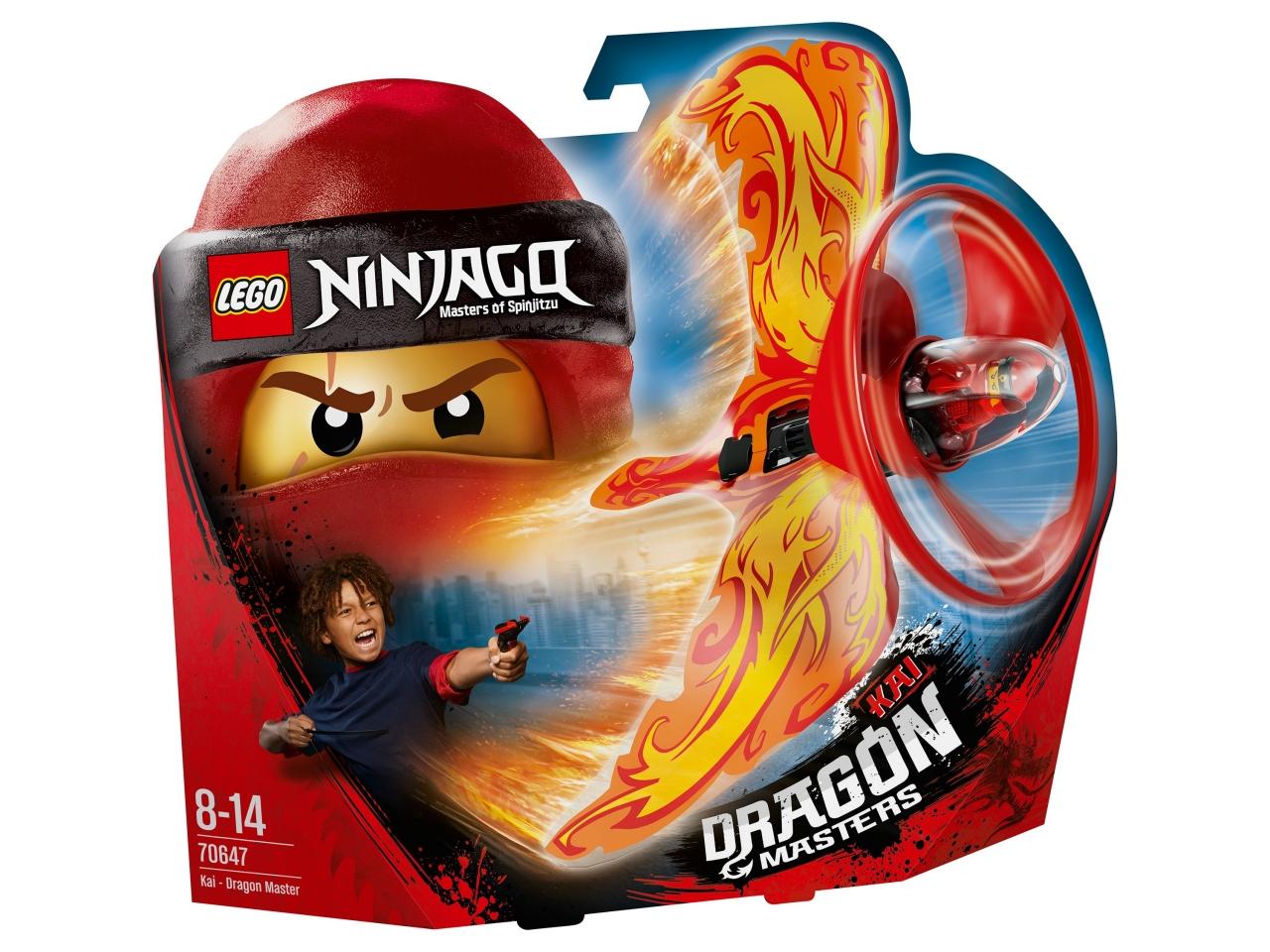 Купить Конструктор LEGO 70647 Ninjago Кай — Мастер дракона, пластик, Для мальчиков и девочек, Мексика, Конструкторы