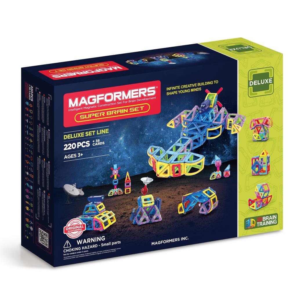 Купить Магнитный конструктор MAGFORMERS 710004 (63088) Super Brain Up set., пластик, магнит, Для мальчиков и девочек, Китай, Конструкторы