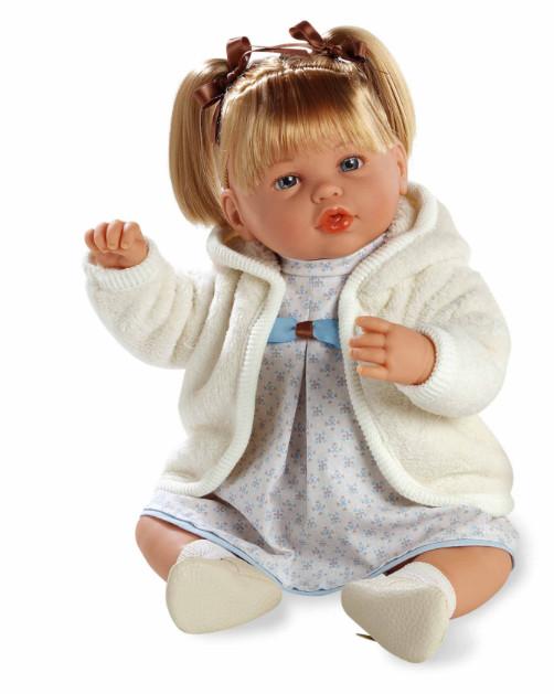 Купить MUNECAS ARIAS Кукла ARIAS , функциональная, в бежевой одежде, 45 см [Т11101], Текстиль, винил, Для девочек, Испания, Куклы и пупсы