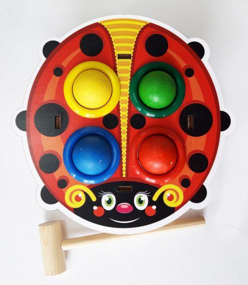 Купить WOODLAND Стучалка цветная Божья коровка [115303], Дерево, Развивающие игрушки для малышей