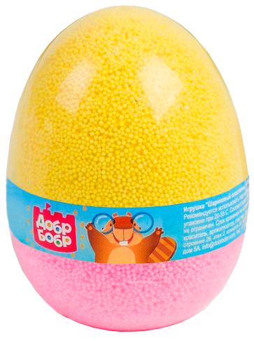 Шариковый пластилин мелкозернистый в яйце ДобрБобр (ШМЯ175-20) желтый-розовый ШМЯ175-20 желтый-розовый фото