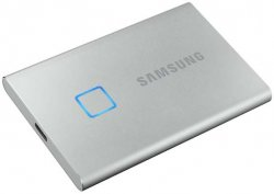 Внешний накопитель SSD 2 Тб Samsung T7 Touch (MU-PC2T0S/WW) USB Type C, серебристый