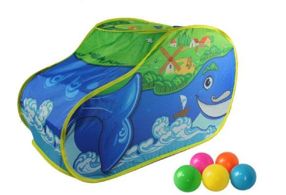 Купить НАША ИГРУШКА Палатка игровая Чудо Кит в комплекте пластмассовые шарики, 20 штук [M7118], пластик, Текстиль, Детские игровые домики и палатки
