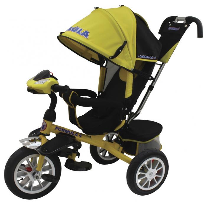 Купить Трехколесный велосипед Formula 4 (FA4Y) желтый, Желтый, пластик, металл, текстиль, Китай, Велосипеды для взрослых и детей