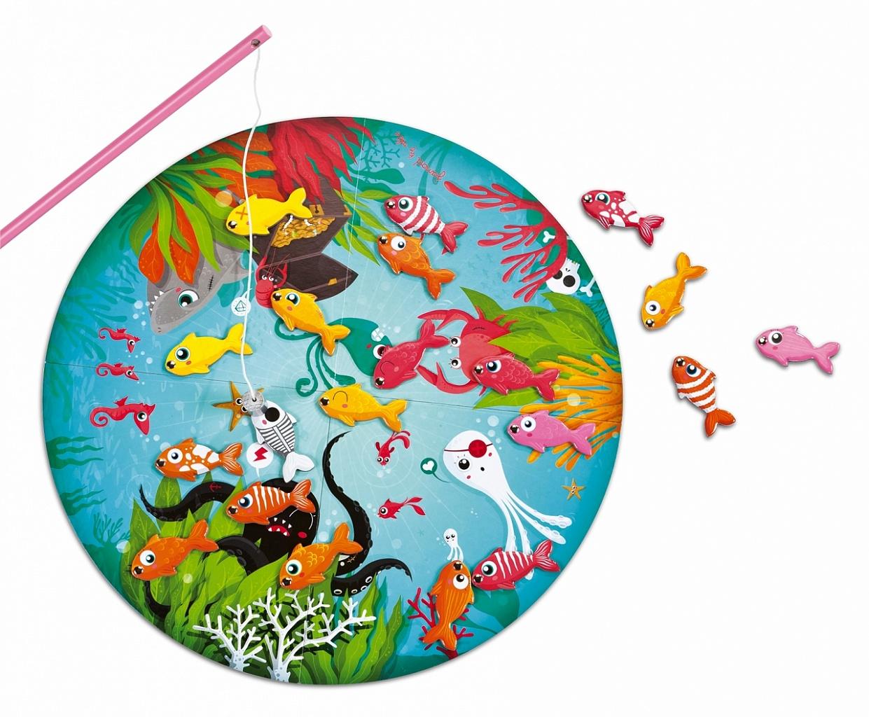 Купить Игровой набор JANOD J02932 Рыбалка, Дерево, Картон, магнитные элементы, Для мальчиков и девочек, Настольные игры