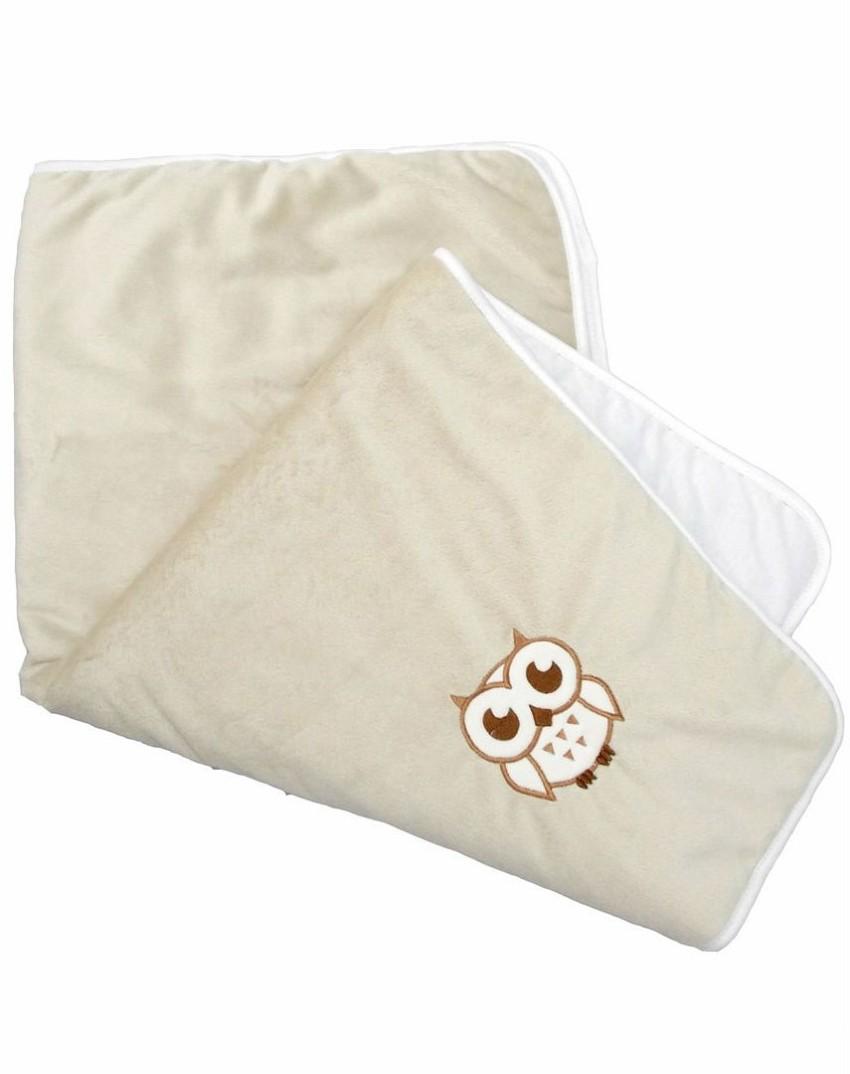Купить BOMBUS Плед Совенок (цвет: серый), синтепон, кулирка, мех вельбоа, Для мальчиков и девочек, Россия, Покрывала, подушки, одеяла для малышей