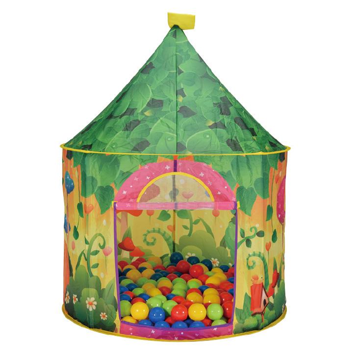 Купить 706, CALIDA Дом + 100 шаров САДОВЫЙ (105x125cm), Китай, Детские игровые домики и палатки