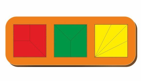 WOODLAND Рамка вкладыш Сложи квадрат. 3 квадрата. Уровень 2 [64104], Дерево, фанера, Россия, Пазлы  - купить со скидкой