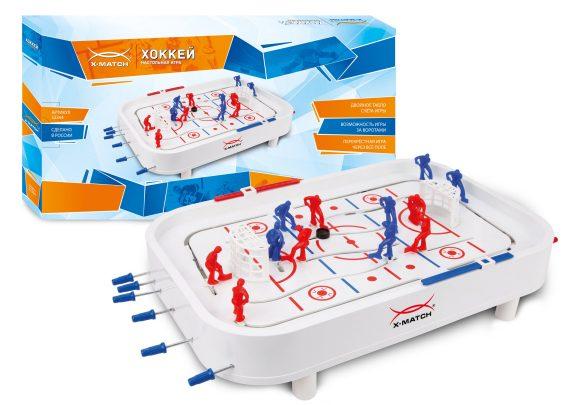 Купить X-MATCH Настольная игра X-Match Хоккей [52364], белый, пластмасса, Настольный футбол, хоккей, бильярд