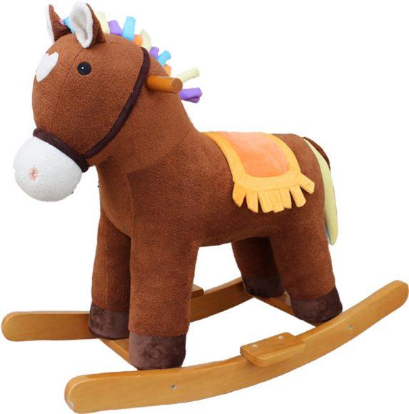 Купить НАША ИГРУШКА Лошадка-качалка Мультик , цвет: коричневая, 65 см [611034], Каталки и качалки для малышей