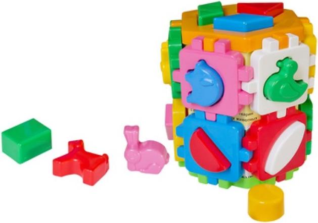 Купить ТехноК Кубик-сортер, [T2001], пластик, Сортеры для малышей