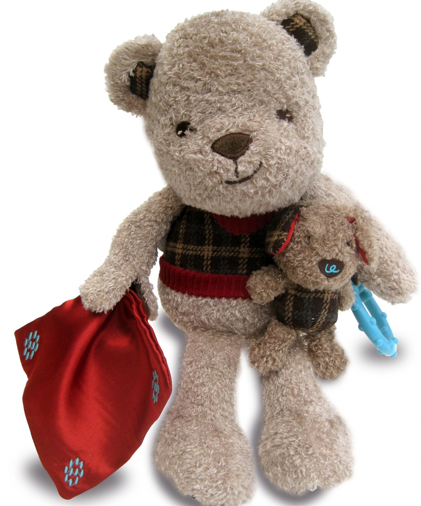Купить Мягкая игрушка LITTLE BIRD TOLD ME LB3047 Медвежонок и Щенок, пластик, Текстиль, Для мальчиков и девочек, Китай, Мягкие игрушки