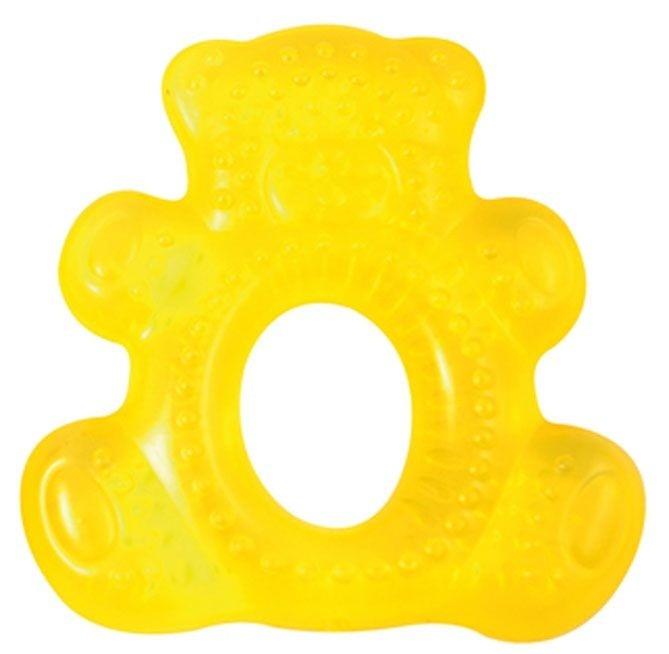 Купить CANPOL Прорезыватель водный охлаждающий Улыбка (форма: мишка, цвет: желтый) [250930469], Желтый, EVA, дистиллированная вода, Погремушки и прорезыватели