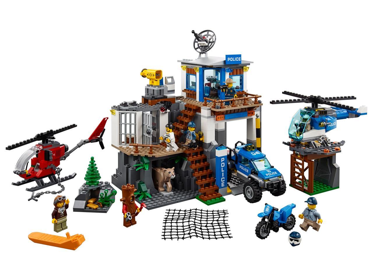 Купить Конструктор LEGO 60174 City Police Полицейский участок в горах, пластик, Для мальчиков и девочек, Венгрия, Конструкторы