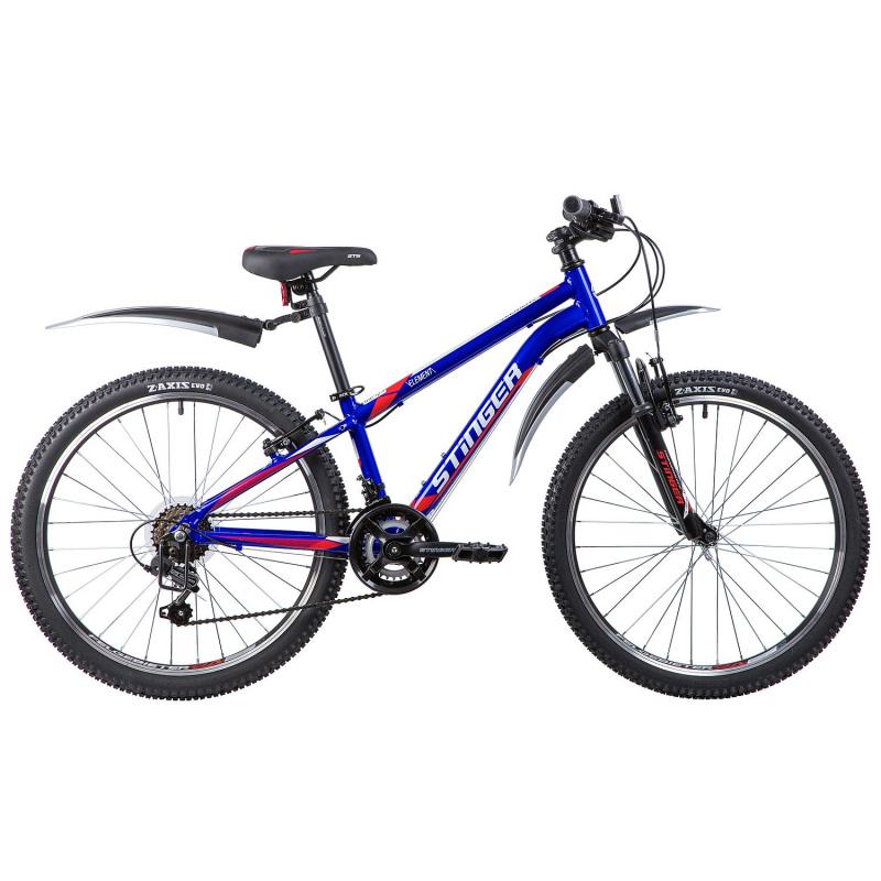 Купить STINGER Велосипед хардтейл Element (2019), синий [24AHVELEMENT12BL9], Велосипеды для взрослых и детей