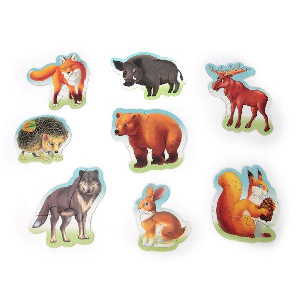 Купить УМКА Набор из 8 макси-пазлов Лесные животные , 19 элементов [4690590110072], картон, бумага., Для мальчиков и девочек, Россия, Пазлы