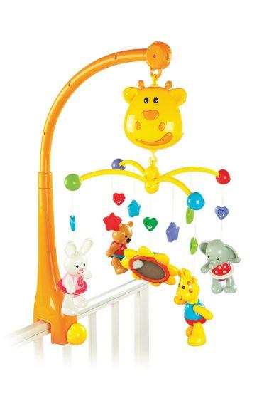 Купить ЖИРАФИКИ Мультифункциональный мобиль Жирафик : таймер выключения, 18 мелодий, съемные игрушки-трещотки, регу [939402], мультиколор, пластик, Мобили для малышей