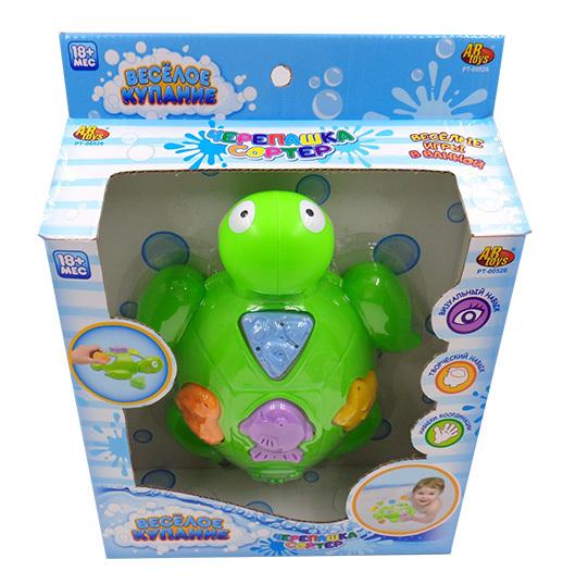 Купить ABTOYS Набор для ванны Веселое купание (черепашка-сортер и формочки) [PT-00526], пластмасса, Сортеры для малышей