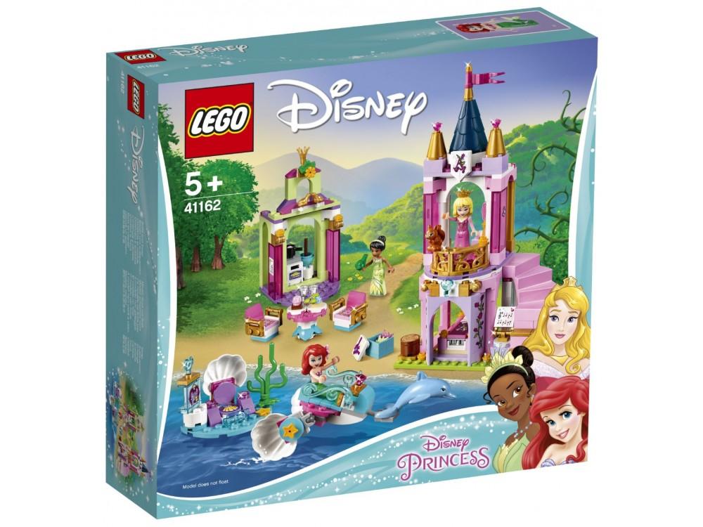 Купить Конструктор LEGO Disney Princess. Королевский праздник Ариэль, Авроры и Тианы [41162-L], пластик, Пластилин и масса для лепки