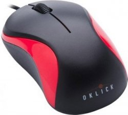 Проводная мышь Oklick 115S Optical Mouse for Notebooks Black-Red USB