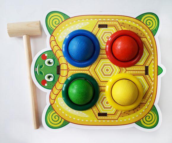 Купить WOODLAND Стучалка цветная Черепаха [115309], Дерево, Развивающие игрушки для малышей