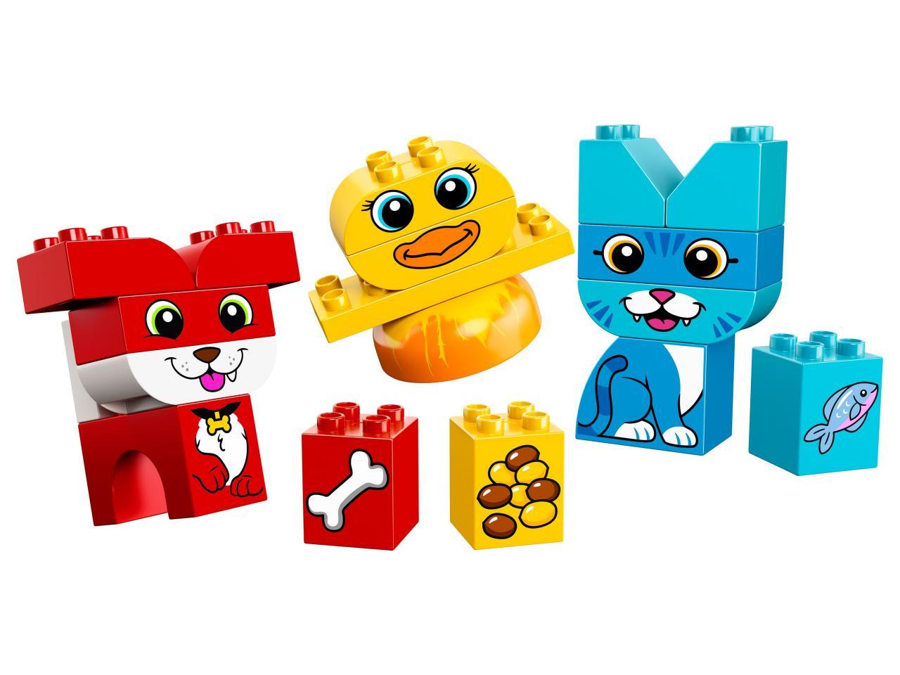 Купить Конструктор LEGO 10858 Duplo My First Мои первые домашние животные, пластик, Для мальчиков и девочек, Венгрия, Конструкторы