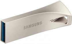 Флешка 64 Гб Samsung BAR Plus (MUF-64BE3/APC) USB 3.1 Type A, серебристая