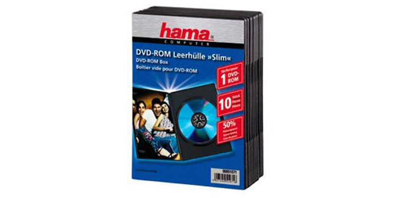 Коробка для DVD Hama Slim Black 51071