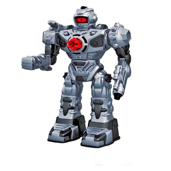 Купить НАША ИГРУШКА Робот p/у, 37 см., двигается, стреляет, свет, звук, эл.пит.не вх. [TT711B], пластик, Игрушечные роботы и трансформеры