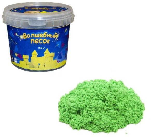 Купить КОСМИЧЕСКИЙ ПЕСОК Набор Волшебный песок Зеленый 0, 5 и формочка [VP053], Кинетический песок