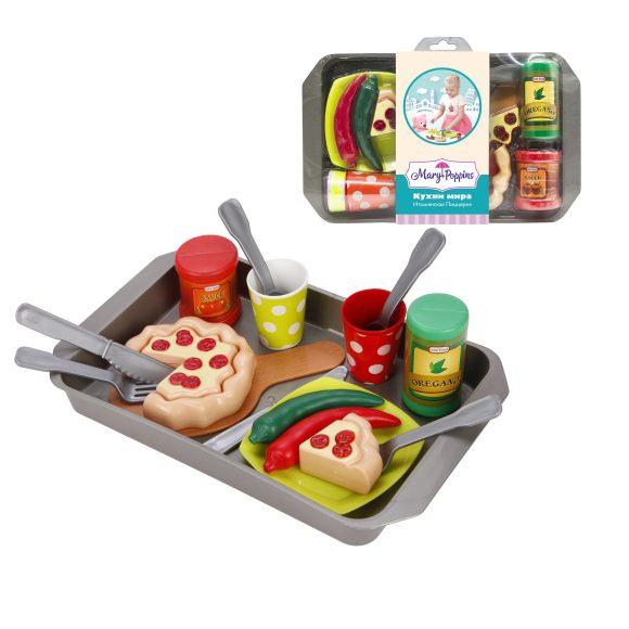 Купить MARY POPPINS Набор посуды и продуктов Итальянская пицерия серия Кухни мира [453140], пластмасса, Игрушечная еда и посуда