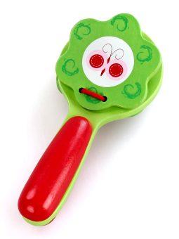 Купить MAPACHA Трещотка красн/зелен. [76435], Детские музыкальные инструменты