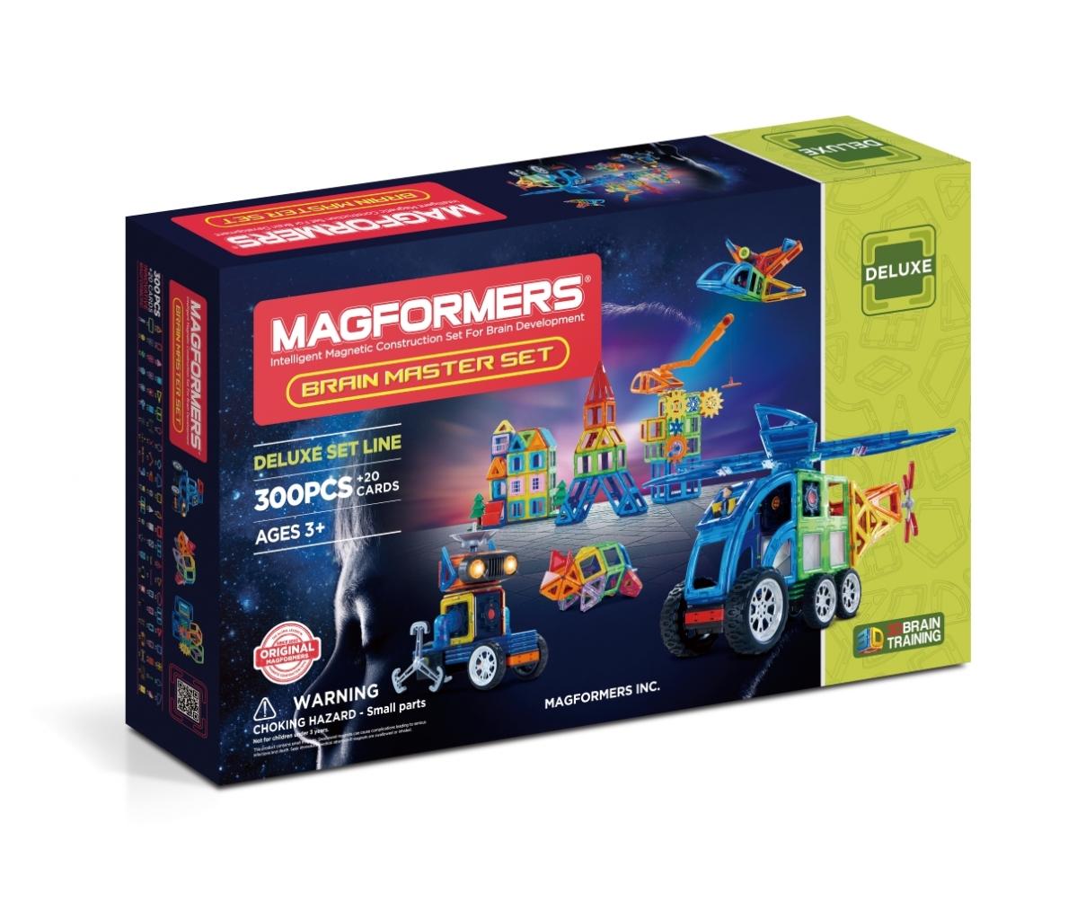 Купить Магнитный конструктор MAGFORMERS 710011 Brain Master set, пластик, магнит, Для мальчиков и девочек, Китай, Конструкторы
