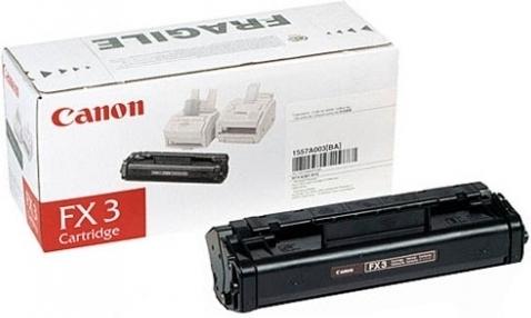 Купить Лазерный картридж Canon Black FX-3 (1557A003), FX-3 Black, Black (Черный), Китай