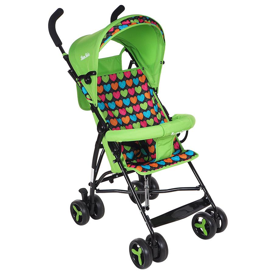 Купить BAMBOLA Коляска трость LOVE (8 колес, бампер, сумка) зеленый, [B200 LOVE], Китай, Детские коляски
