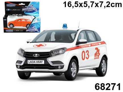 Купить AUTOTIME Машинка Lada Xray. Скорая помощь , 1:36 [68271W-RUS], пластик, Металл, Игрушечные машинки и техника