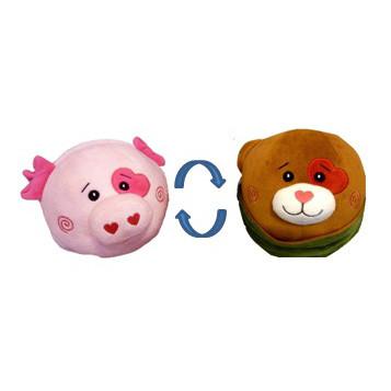 Купить ИГРАЕМ ВМЕСТЕ Мягкая игрушка-вывернушка Щенок - свинка, 16 см [B29450E-1-16A], 1 toy, Кукольный театр