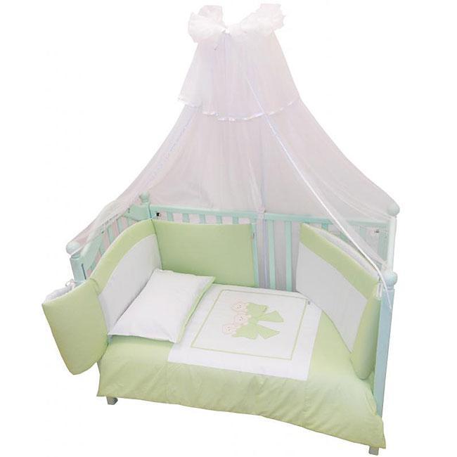 Купить 12357423, ANDY AND HELEN Комплект в кроватку 6 предметов Andy&helen Бантик, [6/20V3R52 6P SB G], Постельное белье для малышей