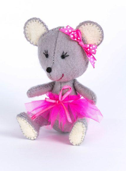 Купить ПЕРЛОВКА Набор для изготовления текстильной игрушки Мышка [ПФД-1052], фетр, текстиль, пластик, Россия, Товары для изготовления кукол и игрушек