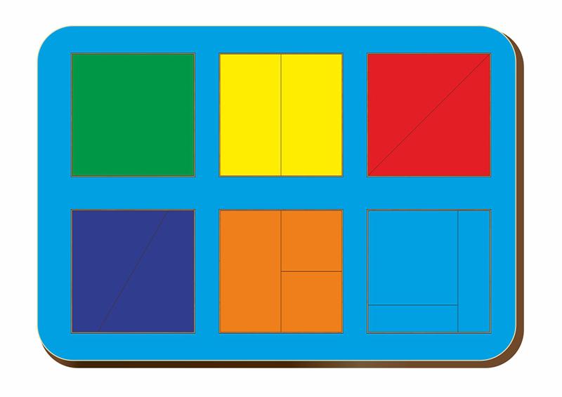 Купить Рамка-вкладыш WOODLAND 064301 Сложи квадрат 6 квадратов, уровень 1, Дерево и фанера, Для мальчиков и девочек, Россия, Обучающие материалы и авторские методики для детей