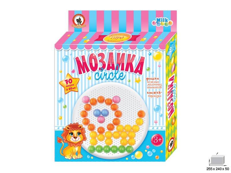 Купить РУССКИЙ СТИЛЬ Мозаика Milk , 70 фишек [3923], Мозаика для детей