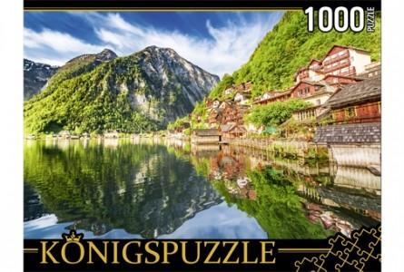 Купить ГИК1000-8241, Königspuzzle Пазлы Konigspuzzle. Австрия. Озеро Хальштаттерзее , 1000 элементов, Königspuzzle, Картон, Россия